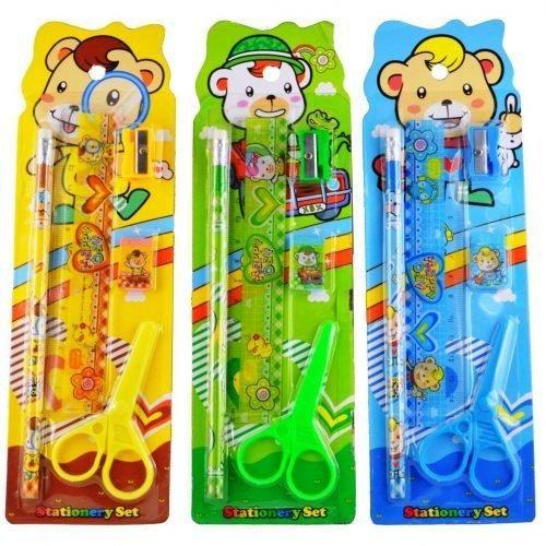 Stationery Set For Kids 1 Pcs Assorted Color Design Birthday Return Gifts Return Gifts For Kids Stationery Set