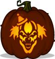 Pumpkin carving patterns and stencils zombie pumpkins for Creepy clown pumpkin stencil