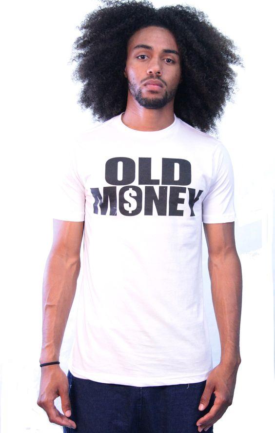"""""""Old Money"""" White/Black T-Shirt"""