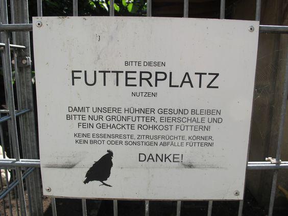 Futter für die Hühner