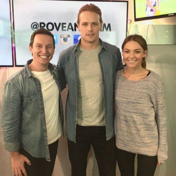 The star of Outlander Sam Heughan wearing 1961ports denim button down shirt. #mensfashion #BigBoysOnly #brooklynprla #fashiopr #StreetStlye #ports1961menswear #denim #BillionareBoysClub #press #tour #Outlander #sydney #australia