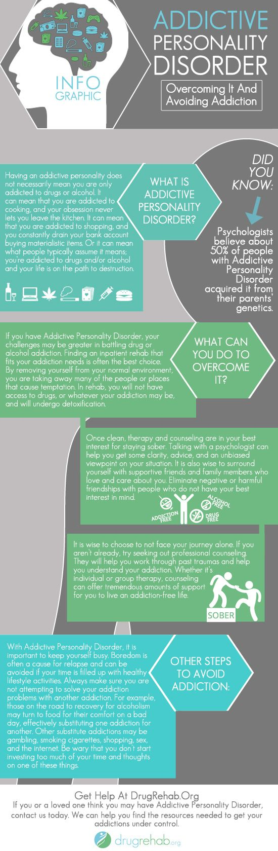 #Infographic About Addictive Personality Behaviors & Disorders – Overcoming…