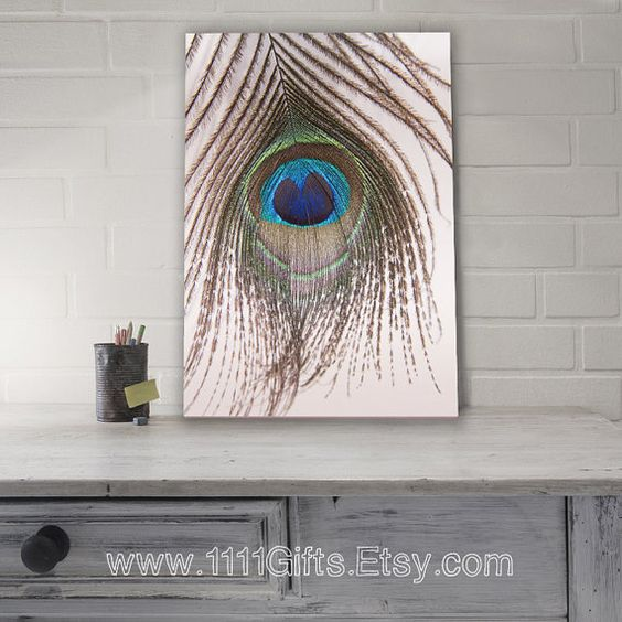 "Peacock Decor * Peacock Feather Print * 8.5x13"" High Resolution Photography * Peacock Decorations * Printable Art * Instant Download! on Etsy, $5.00:"