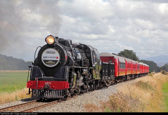 RailPictures.Net Photo: Ja 1271 Steam Incorporated Steam 4-8-2 at Near Woodville, New Zealand by John Russell