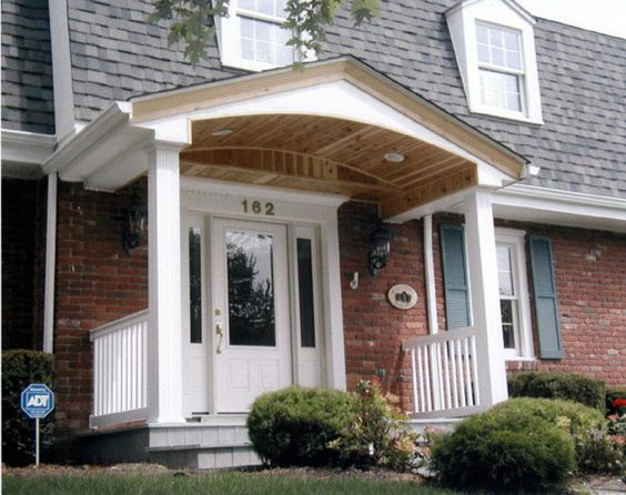 Porch roof posts and flats on pinterest Front porch without roof