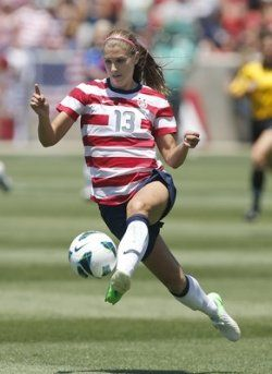 "Alex Morgan -Wow!!! Seriously...look at that pic...her feet aren't even touching the ground! Poetry in Motion... This is Why Soccer is called.... ""The Beautiful Game"":"
