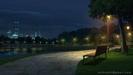 River Walk Visual Novel Bg By Vui Huynh Anime Scenery