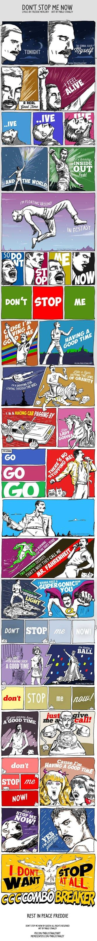 This has all the good things....Freddie, a BTTF and Star Wars refrence....it's so 80s