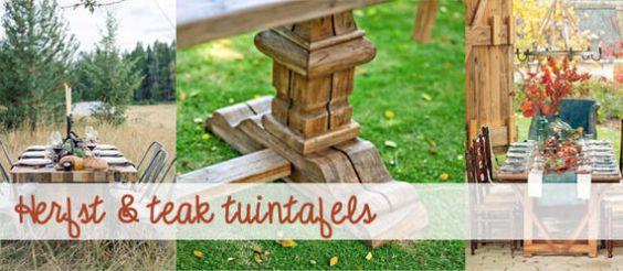 Ideeën voor in de tuin: Teakhouten tuintafels
