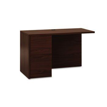 "NEW - 10500 Series ?L? Workstation Return, Full-Height Left Ped, 48w x 29d, Mahogany - 105906LNN by Hon. $490.00. Hard-working, good-looking and built to survive a lifetime of overtime. Durable laminate finish helps reduce scratches. Full-height modesty panel for privacy. HON? ""One Key"" core removable lock. Convenient cord management grommets. Not freestanding. Desk and Return sold and shipped separately?ORDER BOTH. Color: Mahogany; Pedestal Count: 1; Drawer Configuration: Le..."