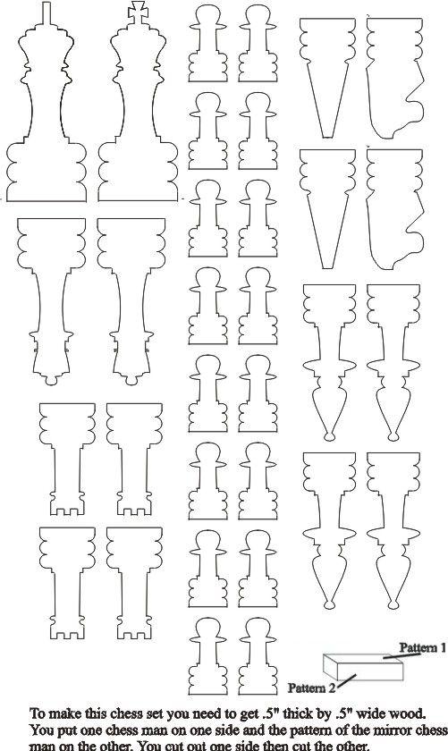 Perfis para Torno_jogo de xadrez_More chess piece patterns