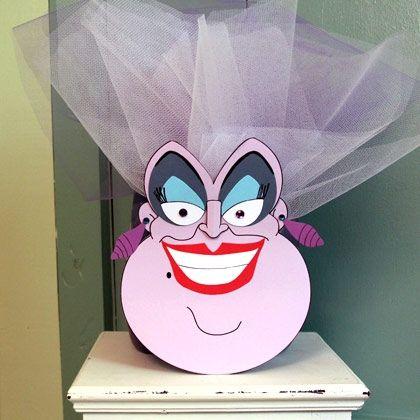 Spooky Ursula Craft Disney, Disney family and Disney crafts - halloween arts and crafts decorations