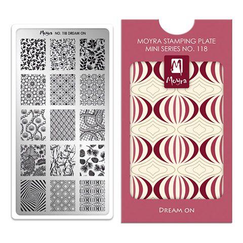 Moyra Mini Stamping Plate 118- Dream On