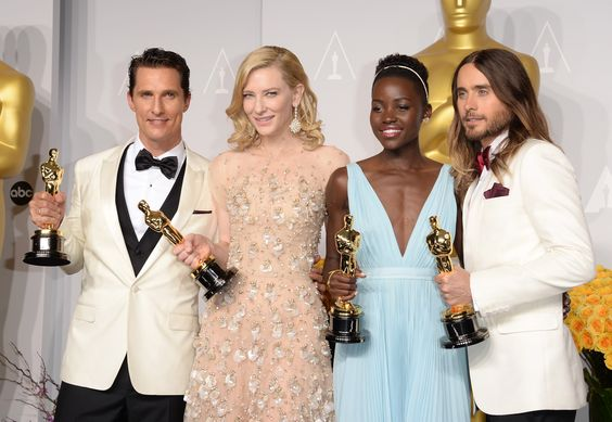 I just love the way all the colors look together.  2014 Academy Awards - Press Room