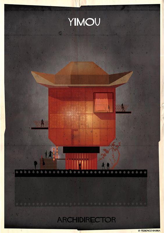 Como seriam as casas se cineastas como Tim Burton, George Lucas e Kubrick fossem arquitetos? Frederico Babina, arquiteto e ilustrador, fez uma série no qual ilustra casas imaginárias seguindo o estilo de vários cineastas famosos. Confira: