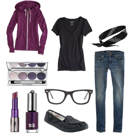 """Purple & Black"" by silverfox611 on Polyvore"