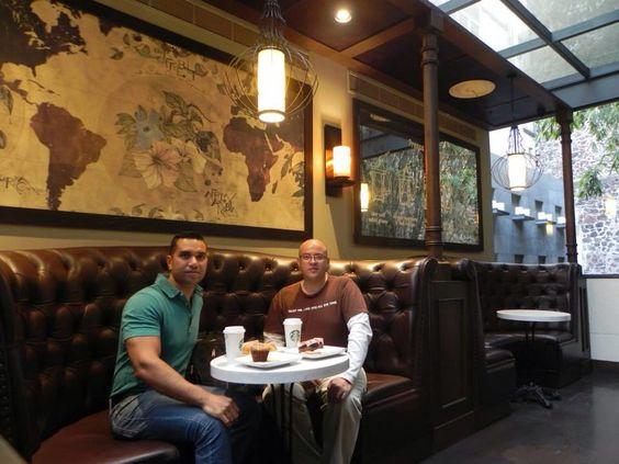 14/04/14 DF en el más bonito Starbucks del mundo!!!