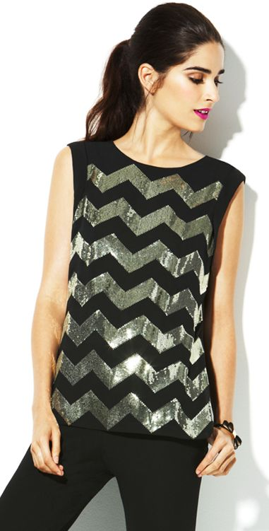 sequined chevron top / vince camuto