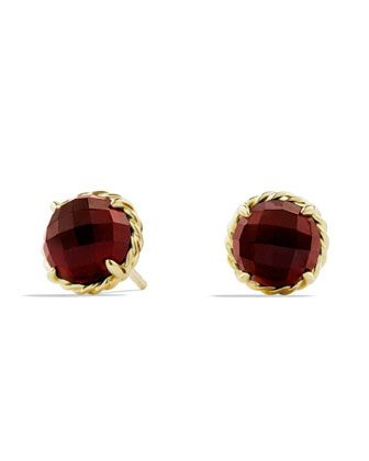 Chatelaine Earrings with Garnet in Gold by David Yurman at Neiman Marcus.