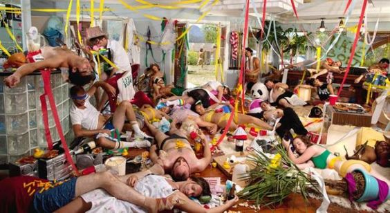 Hangover Pt. 3 In This Picture: Photo of party aftermath