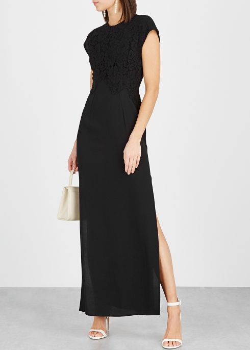 Flawi black lace panelled maxi dress in 2019 | Fashion