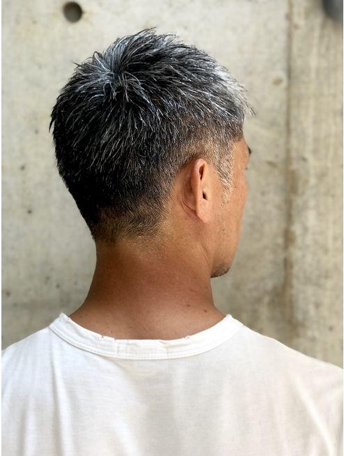40代白髪大人ベリーショート2 L040311968 美容室カードル 新小岩店