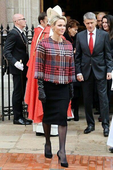 Monacos Prince Albert II and Princess Charlene Attends the Celebration Of The Sainte-Devote In Monaco on January 27, 2018