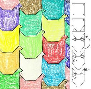 Tessellations (M.C. Escher) UK Eduacation Good Site @ http://www.smartyoungthings.co.uk
