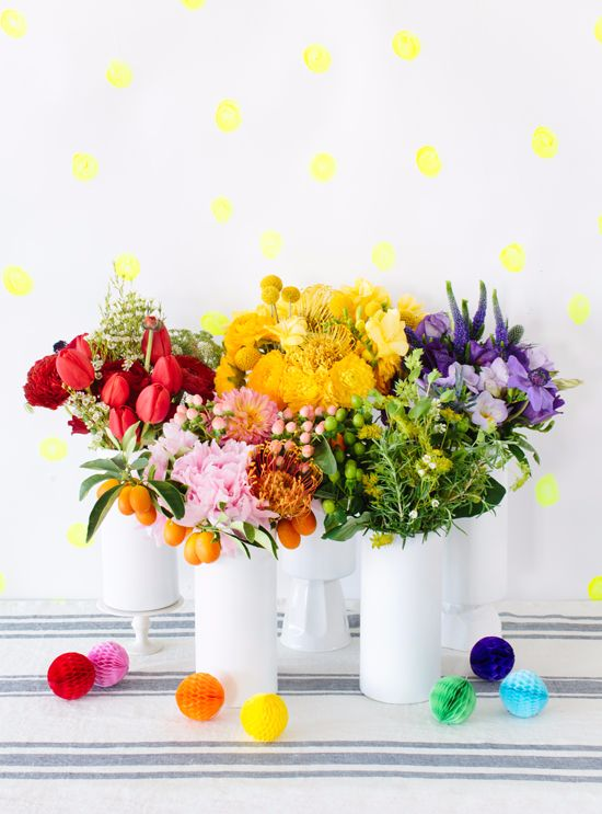 a rainbow of flowers...: