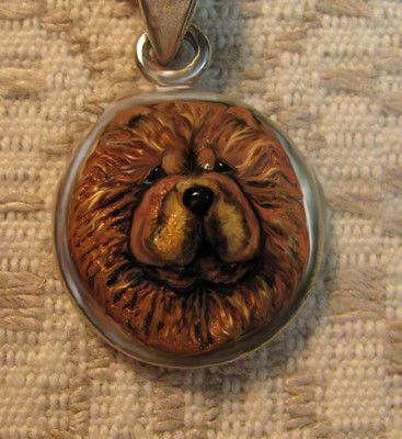 Tiny little Chow pendant necklace, on Ebay from artmiz.