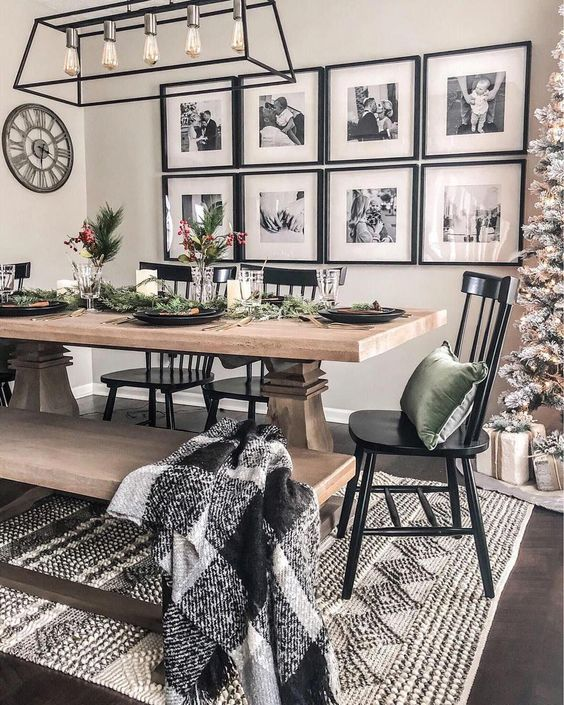 42 Classy Black Dining Room Design Ideas #livingroomideasdecor
