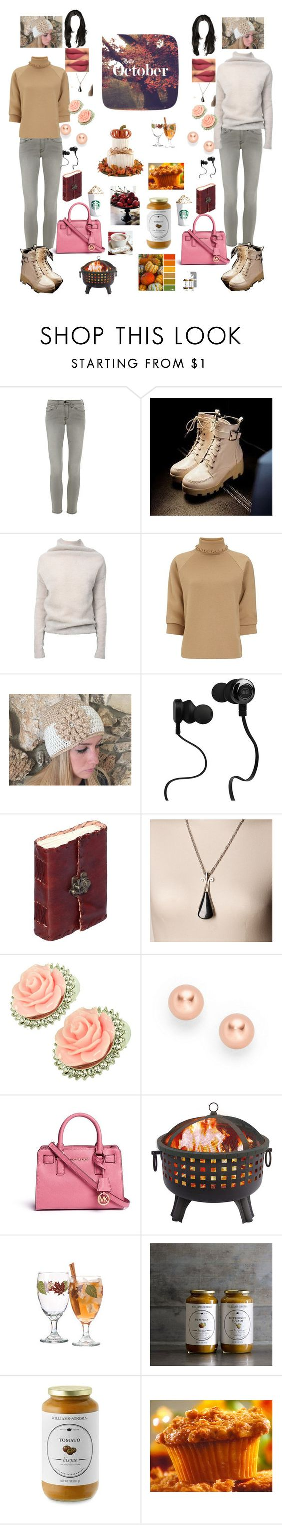 """me and my best friend Lolita sarif ready for fall! ☕☕"" by roxiebolden ❤ liked on Polyvore featuring Frame Denim, JY Shoes, Rick Owens, J.W. Anderson, Monster, Avon, Kate Marie, FOSSIL, Michael Kors and Williams-Sonoma"