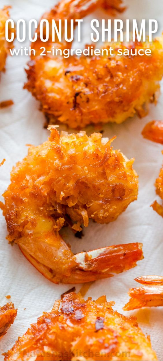 Coconut Shrimp Recipe with 2 Ingredient Sauce