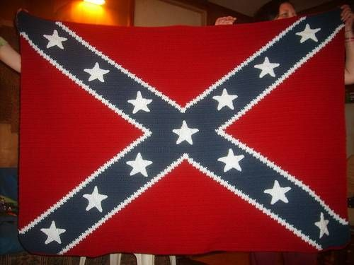 dimensions for confederate flag quilt Americana and American Flag Afghans Free Crochet ...