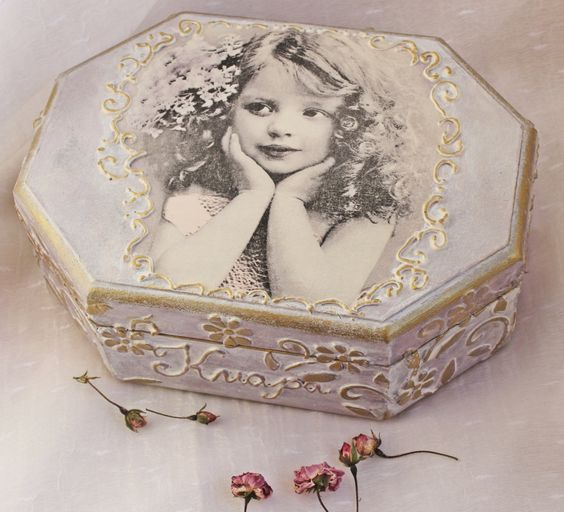 Personalized jewelry box wooden Jewelry box little girl jewelry box retro shabby chic box girls gift gift for girl personal gift (27.31 EUR) by BellesAmiesDecor