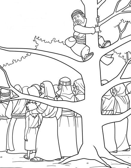 zaqueo coloring pages - photo #32