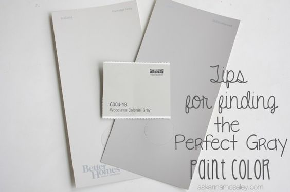 Tips for finding the perfect gray paint color ask anna for Perfect tan paint color