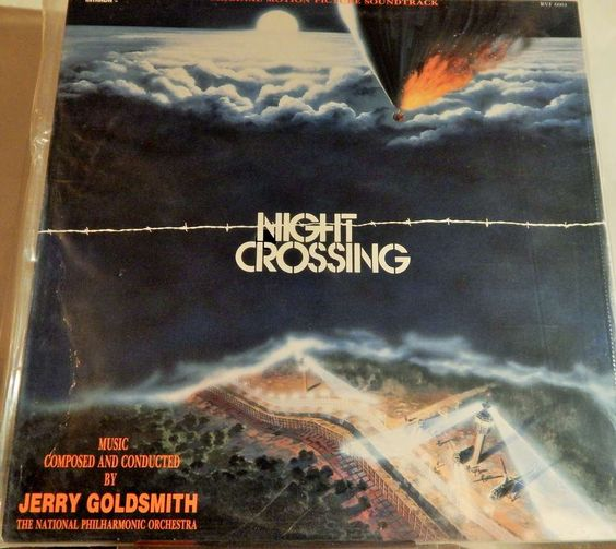 """NIGHT CROSSING 12"""" VINYL LP MINT ORIGINAL SOUNDTRACK (1982, JERRY GOLDSMITH) LIMITED ISSUE RELEASE"""