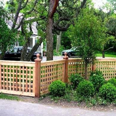 Natural color lattice fence