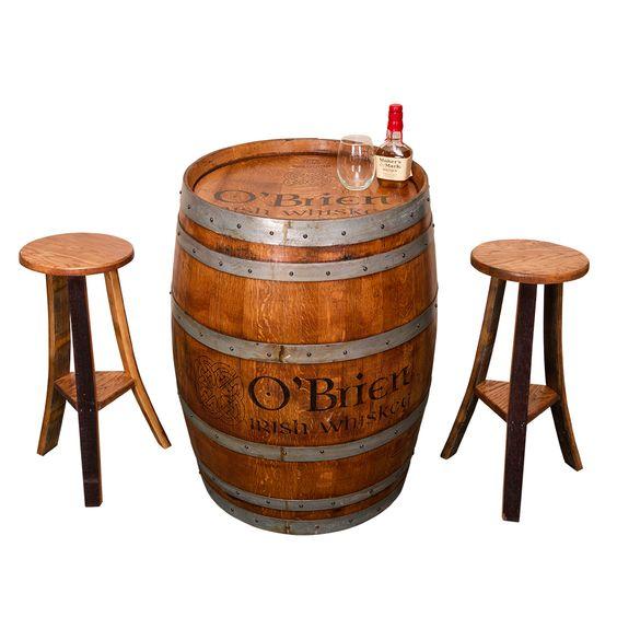 Whiskey Barrel Irish Pub Table Set