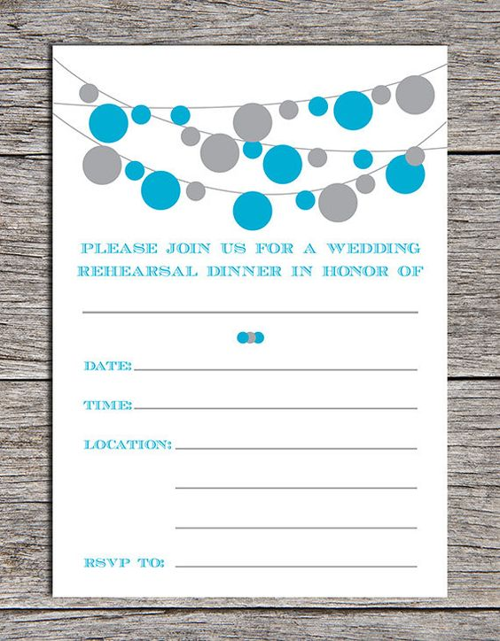 Printable Rehearsal Dinner Invitation. Simply print and fill in ...