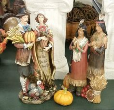 Indians Figurines, Autumn Holidays, Family Holiday, Pilgrims, Thanksgiving, Decorations