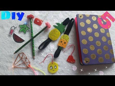 كيف تصنعي 5 اشياء للمدرسه بكل سهوله Diy School Supplies For Back To School Youtube