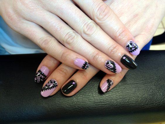 Lace design#nails art#gel polish @ Ocean Nails and Spa. FWB,Fl ...