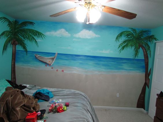 17 best images about diy beach beach mural beaches and for Beach mural painting