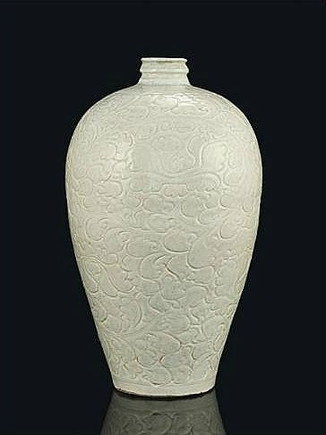 A qingbai carved meiping, Song dynasty (960-1279). Photo Christie's Image Ltd 2014.