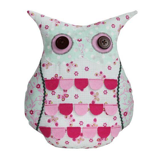 eule patchwork mintgrün-rosa-pink owl onlineshop duftesachen berlin