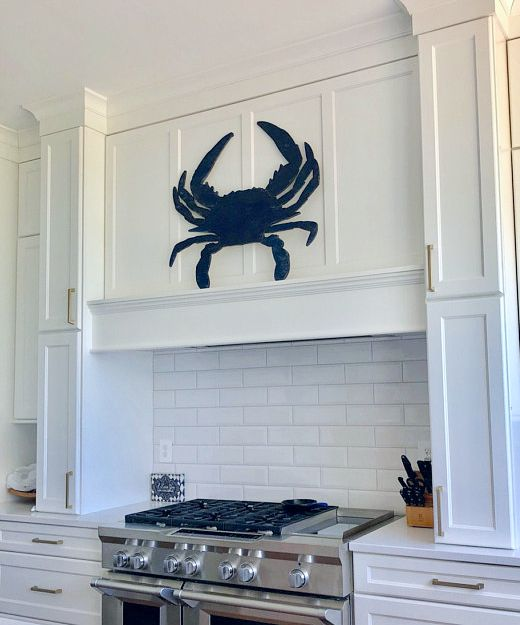 Coastal Wood Cutouts Wall Decor Art With Images Crab Decor