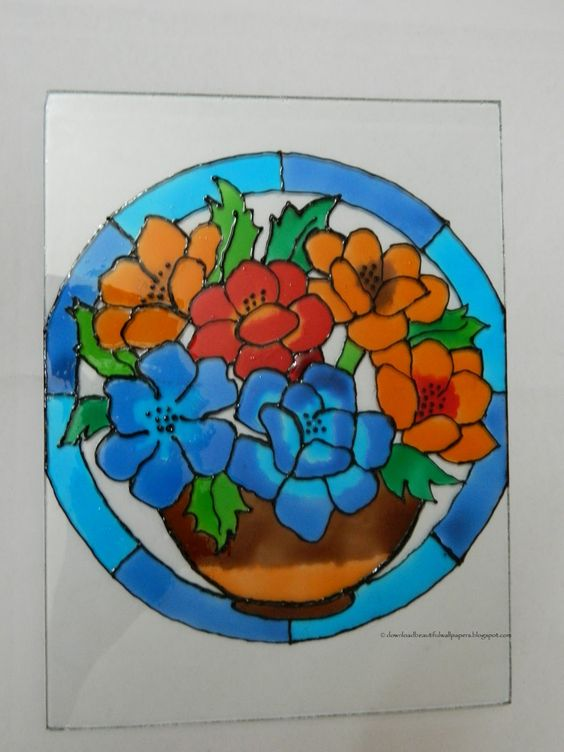 Glass painting designs creative art and craft work new for Creative painting by design