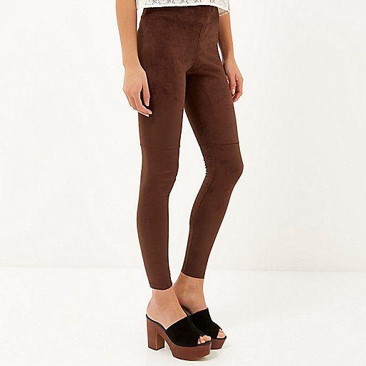 Dark Brown Womens Leggings The Else
